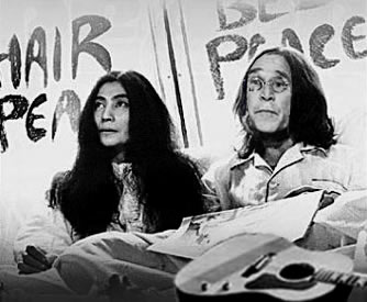 imagine george and yoko taking a walk on the wild side