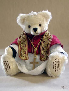 pope benedict XXX as teddy